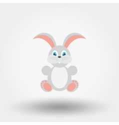 Bunny Flat icon vector image