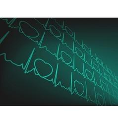 Cardiogram EKG vector