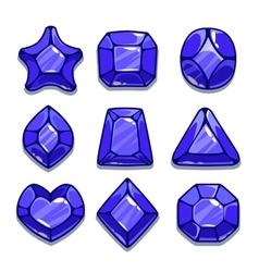 Cartoon different shapes gems set vector image