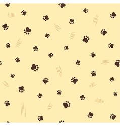 Cat theme seamless background vector image