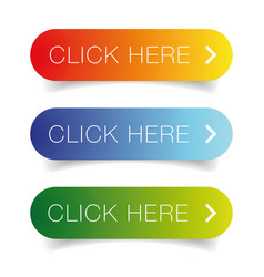 Click here call to action button vector