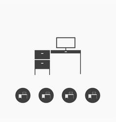desk icon simple vector image