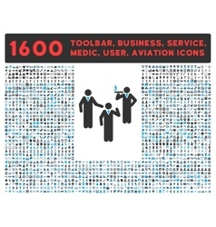 Discuss icon with large pictogram collection vector
