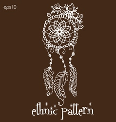 Dream catcher pattern or tattoo vector