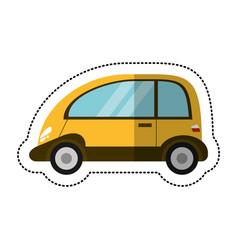 Eco car transport image shadow vector