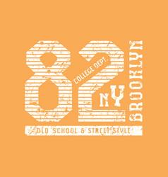 emblem sports team new york vector image