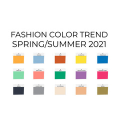 Fashion color trend spring summer 2021 trendy vector