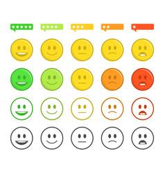 feedback emoticon concept vector image