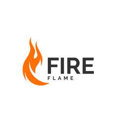fire flame logo design hot logo template vector image