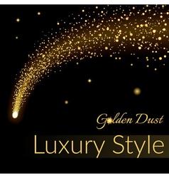 Golden sparkling falling star 1 vector image