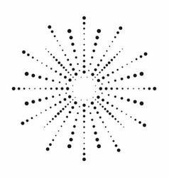 halftone effect dotted sun rays vintage sunburst vector image