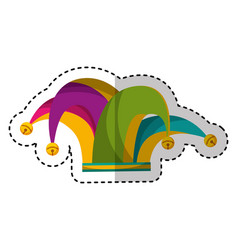 harlequin hat isolated icon vector image