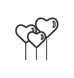 hearth shape balloons icon vector image