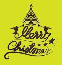 Holidays Merry Christmas lettering vector image