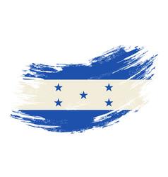 honduras flag grunge brush background vector image