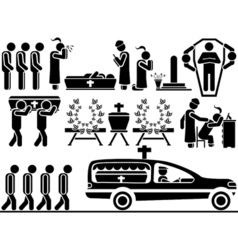 ICON MEN FUNERAL vector