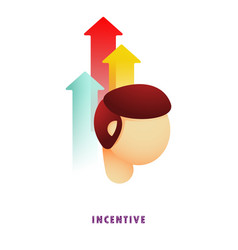 incentive arrows from head vector image