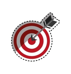 Isolated dartboard target vector image