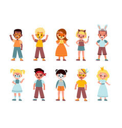 kids funny makeup boys and girls face vector image