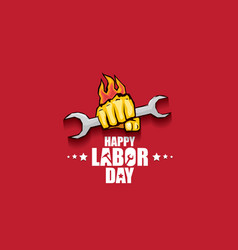 Labor day usa label or banner background vector