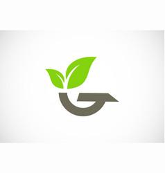 Letter g green leaf logo vector