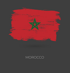 morocco colorful brush strokes painted vector image