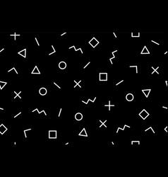 pattern seamless memphis geometric graphic vector image