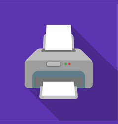 printer icon in flate style isolated on white vector image