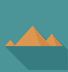 Pyramids flat long shadow design icon vector