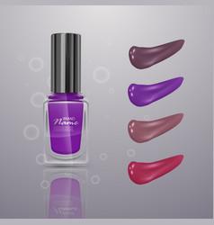 realistic nail polish 3d collection vector image
