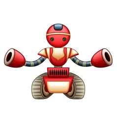 red robot cartoon vector image