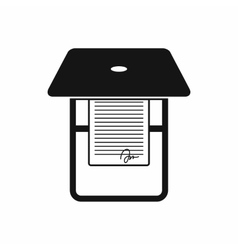 Scanner icon in simple style vector image