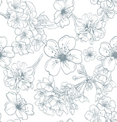 Seamless apple flowers pattern backgrounds vector