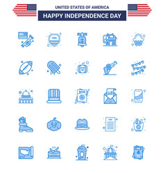 Set 25 blues on 4th july usa independence day vector