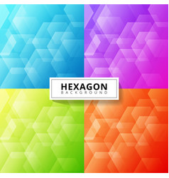set abstract blue purple green red color vector image