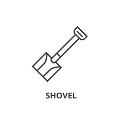 shovel line icon outline sign linear symbol vector image
