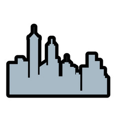 silhouette of city buildings icon vector image