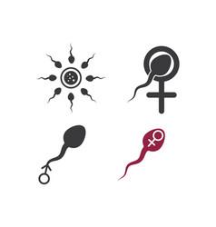 Sperm icon logo design vector