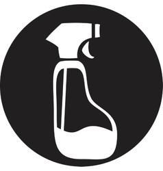 Spray Pistol Cleaner Plastic Bottle vector image