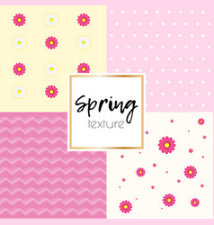 Spring simple taxtue vector