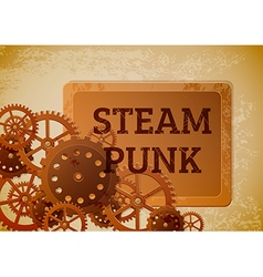 Steampunk banner vector