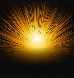 sun shine glow light vector image