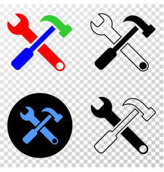tools eps icon with contour version vector image