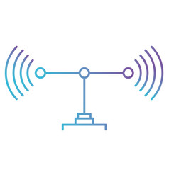 transmission antenna icon in color gradient vector image
