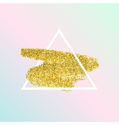 Trendy poster with gold glitter texture vector