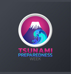 tsunami preparedness week icon design infographic vector image
