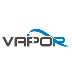 vapor logo design template vector image