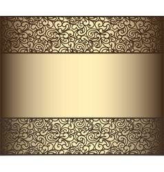 Vintage lace background for envelope vector image