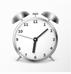 alarm clock with bells ringing timer vector image vector image