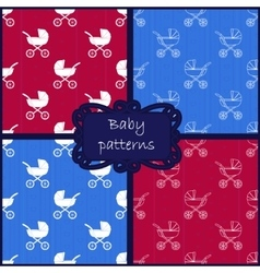 Baby patterns vector image